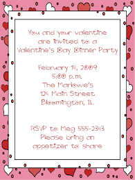 valentines party invitations red hearts dinner party valentines party invitations