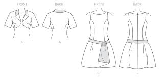 Bolero Jacket Pattern Extraordinary Vogue Patterns 48 Misses' Bolero Jacket And DropWaist Dress