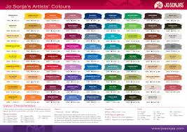 Astm Color Chart Chromas Jo Sonja Artists Colors Color Chart Paint Color