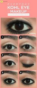 how to apply kajal on eyes perfectly step by step tutorial simple eye makeupnatural