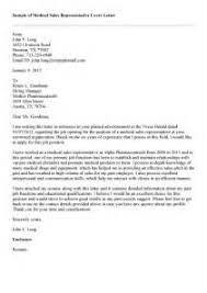 example cover letter for resume pharmaceutical sales medical sales representative cover letter sample cover sample medical representative cover letter