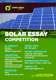 essay on power solar power essay city of god essay essay nuclear  solar power essay afro tech girls essay competiton africanism cosmopolitan africanism cosmopolitan afro tech girls essay