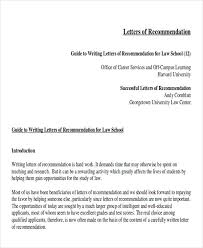 How To Write A Letter Of Recommendation For Law School From Employer Sample Law School Letter Of Recommendation 6 Examples In
