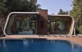 Curved Concrete Cabanas
