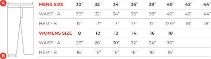 Jeans Size Chart Size Charts Hood Motorcycle Jeans