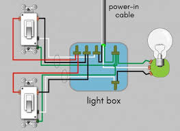 how to wire a 3 way switch wiring diagram dengarden 3 way switch wiring power in the light box 3 rope cables to