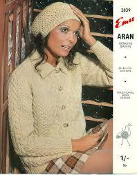 Vintage Knitting Patterns Fascinating Cute Vintage Aran Knitting Patterns Ladies Aran Vintage Knitting