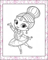 Fashionable Shimmer And Shine Printable Coloring Pages Print Free