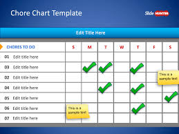 Free Chore Chart Template For Powerpoint Free Powerpoint