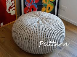 Knitted Pouf Pattern Unique Design