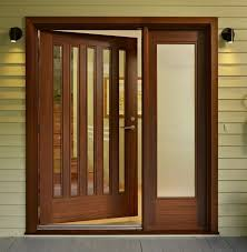 contemporary wooden glass doors design