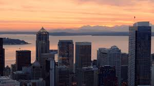 dropbox seattle office mt. Helicopter Filming Seattle Skyline And Mountain Sunset Background Stock Video Footage - Videoblocks Dropbox Office Mt
