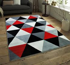 diamond multi black red grey and red rug simple hearth rugs