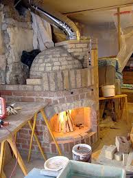 the fireplace was tested right after chimney was connected the oven door opening was plugged with a piece of mineral wool fireplace operated well despite