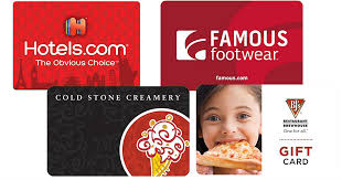 10 off bjs cold stone hotels famous footwear gift cards