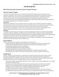 Student Affairs Cover Letter Sample Undergraduate Student Cover Letter Collection