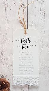 Twine Size Chart And Table Rustic Wedding Table Plan Luggage Tags Seating Chart Tags With Lace And Twine Details Fully Personalised And Printed