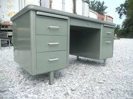 metal office desks. vintage metal office desk mid century metallic green tanker desks h