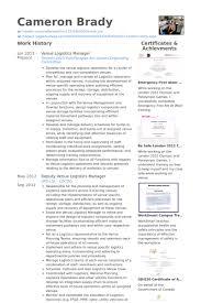 Logistics Resumes Logistics Manager Cv Template Logistics Manager Resume Template 49
