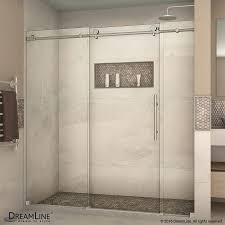 ... DreamLine Enigma X 68 In To 72 In Frameless Glass Shower Doors  Installation Brushed ...