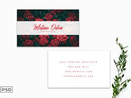 Simple Business Card Template Word Free Minimal Floral Business Card Template By Faraz Ahmad On