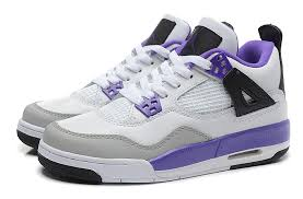 air jordan shoes for girls grey. girls air jordan 4 retro gs white ultraviolet-black cheap for sale online-7 shoes grey