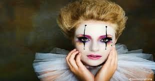 colourful clown makeup ideas