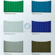 China Manufacturer Catalog Color Chart Polycarbonate Hollow Sheet