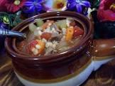 2bleu s beef barley soup  or chicken barley soup