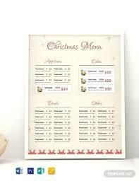 Free Menu Templates Download Ready Made Free Menu Card