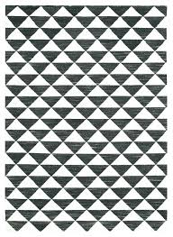 geometric rug pattern black and white rugs wool small triangle uk gr