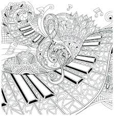 Coloring Pages Music Coloring Pages Free Musical For Adults Easy