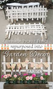 garden decor from curbside picket fence