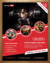 free photoshop wellness flyer 10 free gym bodybuilding flyer poster templates ginva