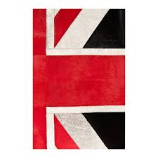... patchwork cowhide rug k-1911 british flag