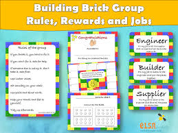 Chart Of Lego Pieces Elsa Support Building Brick Rules Rewards And Jobs Social Skills Autism