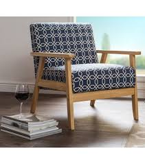 navy blue wingback chair navy blue off white geometric pattern armchair of navy blue wingback chair