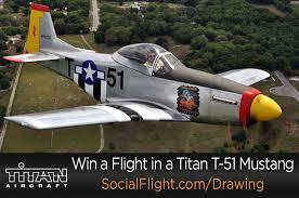 Ride in a Titan T-51D Mustang Courtesy of SocialFlight - Plane & Pilot