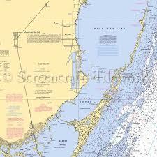 Florida Elliott Key Homestead Biscayne Bay Nautical Chart Decor