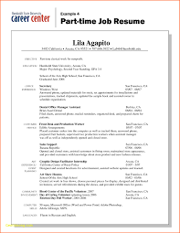 Part Time Job Resume