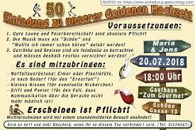 Einfach 40 Zum Einladung Goldene Hochzeit Lustig