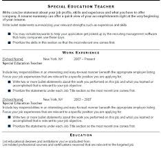 Objective For Teacher Resume Special Education Resume Objective 100