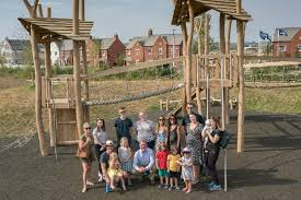 rugby mp met with some of his youngest constituents to open new play park