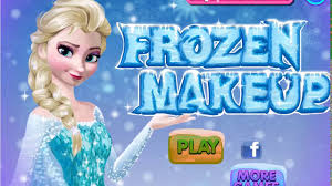 colorful game frozen elsa make up cartoon for kids make up dressing princess