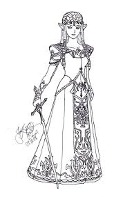 Small Picture princess zelda coloring pages PHOTO 66056 Lineart Zelda Link