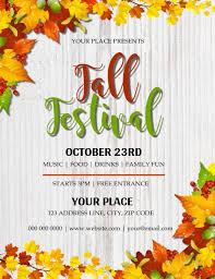 Fall Flyer Autumn Fall Festival Flyer Template Postermywall