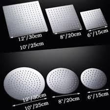 6/<b>8/10/12 inch Stainless Steel</b> Showerhead Bathroom Shower ...