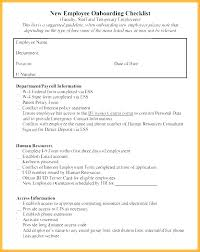 Employee Orientation Checklist Plate New Hire Free Sample Of