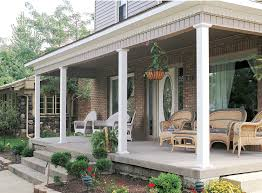 Decorations:Incredible Front Porches Design With Brick Stone Wall And  Wicker Chair Decor Ideas Incredible