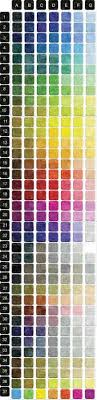 We Love Colors Size Chart Rhinestone Sample Color Card